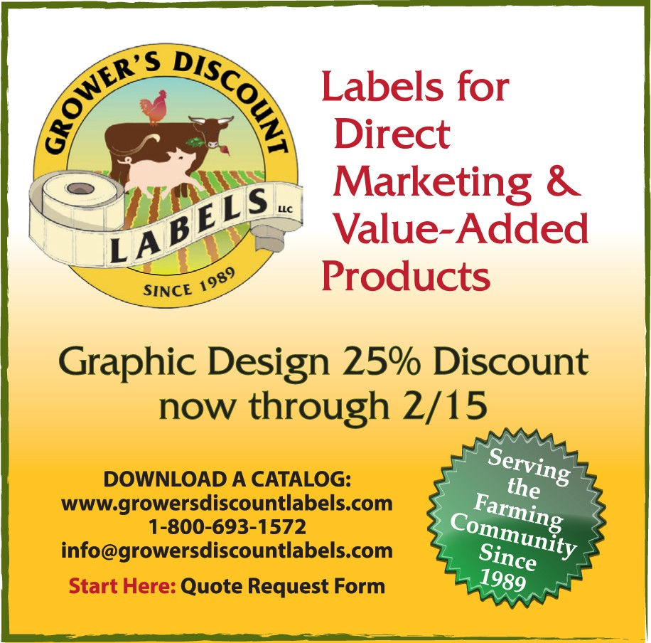 Growers Discount Label ad